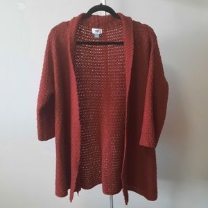 BOGO Free Old Navy open front burnt red 3/4 sleeve knit cardigan